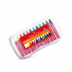 Lápis de Cera JUMBO 12 cores