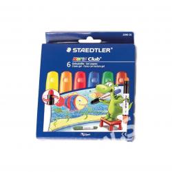 Lápis de Cera 6 cores com...