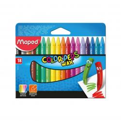 Lápis de Cera Maped 18 cores