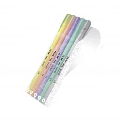 Conjunto 5 liners cor pastel
